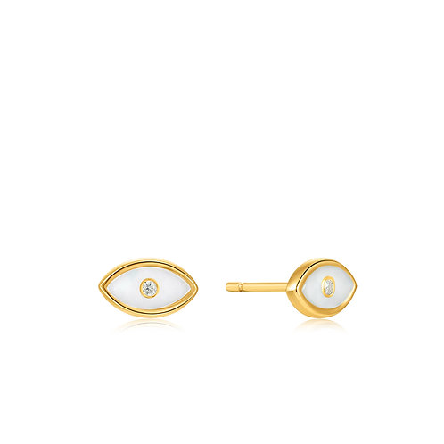 E030-02G Ania Haie Evil Eye Gold Stud Earrings