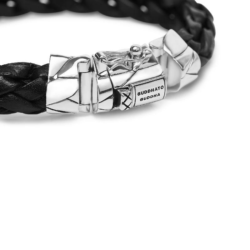 Mangky  Leather Bracelet Black_detail.jp