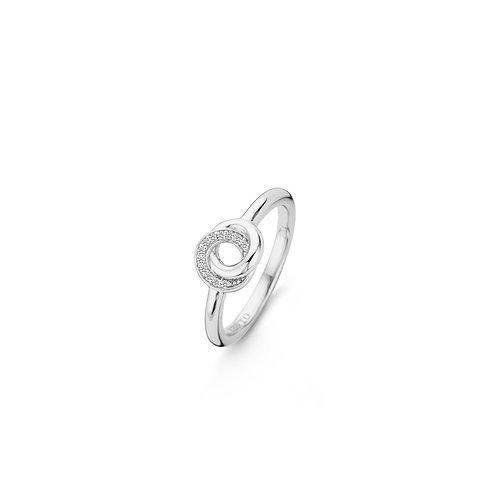 12142ZI Ti Sento zilveren ring met zirconia