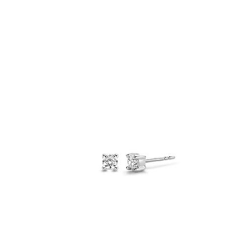7836ZI Ti  Sento zilveren oorstekers met zirconia