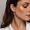 Thumbnail: 9180ZY Ti Sento zilveren oorbedels zirconia verguld
