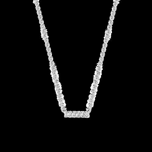 3979ZI/42 Ti Sento zilveren collier met zirconia