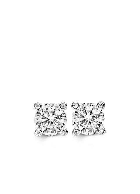 7720ZI Ti Sento zilveren oorstekers met zirconia