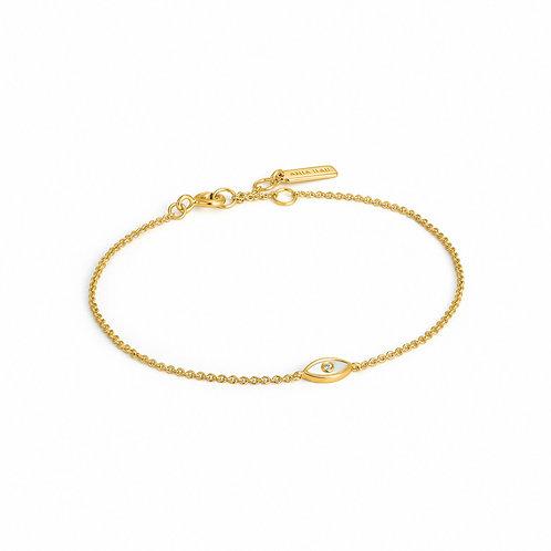 B030-01G Ania Haie Evil Eye Gold Bracelet