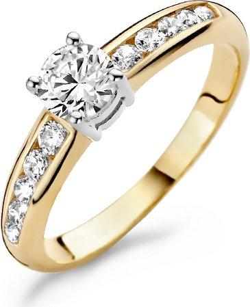 1154BZI Blush ring bicolor zirconia