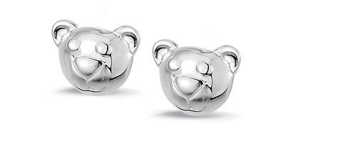 575043 Bellini zilveren oorknoppen beertje