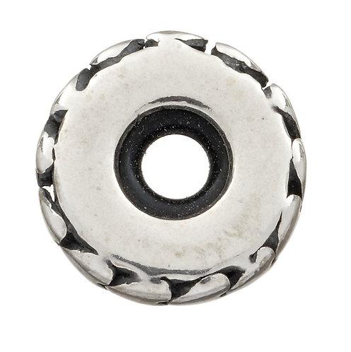 569005 Bellini zilveren stopper hartjes