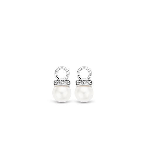 9083PW Ti Sento zilveren parel oorbedels