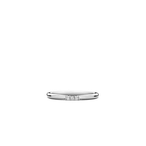 12250ZI Ti Sento zilveren aanschuifring 3 zirconia
