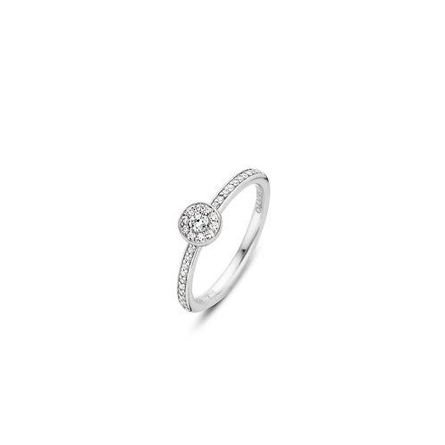 12101ZI Ti Sento zilveren ring met zirconia