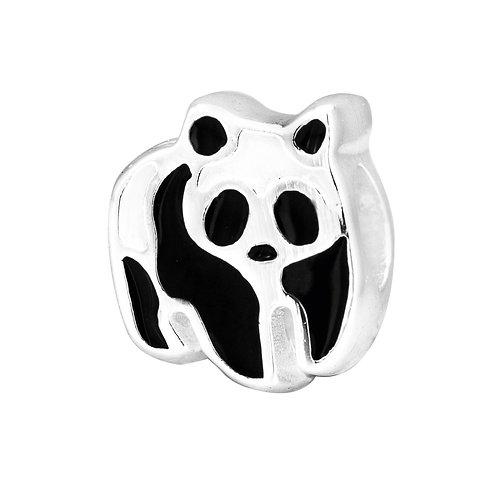 567443 Bellini zilveren bedel emaille panda wit-zwart