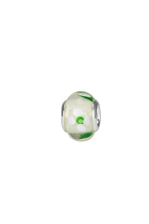 561524 Bellini zilveren bedel glas bloem