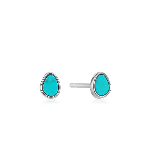 E027-04H Ania Haie Tidal Turquoise Stud Earrings