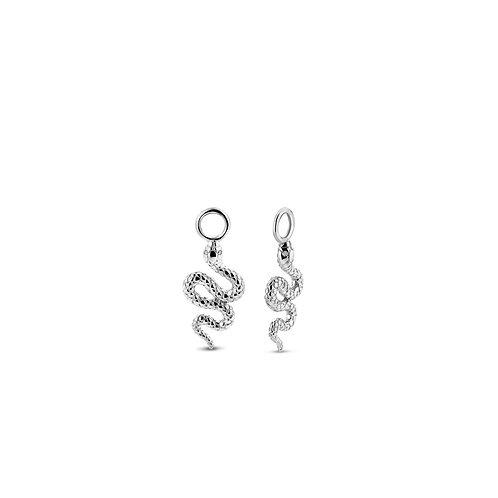 9200SI Ti Sento zilveren oorbedels slang
