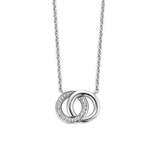 3822ZI Ti Sento zilveren collier met zirconia