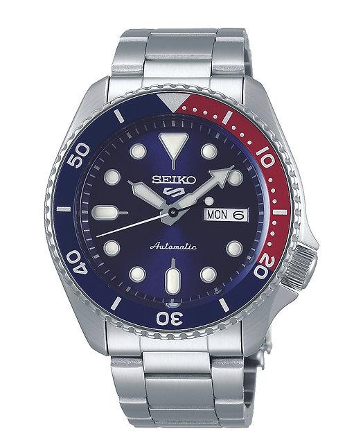 SRPD53K1 Seiko 5 Sports Automatic SS Bracelet Blauw/Ro