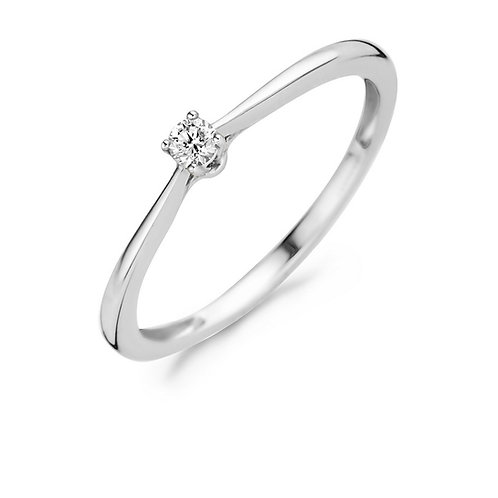 1621WDI Blush ring Diamonds witgoud 0,06ct