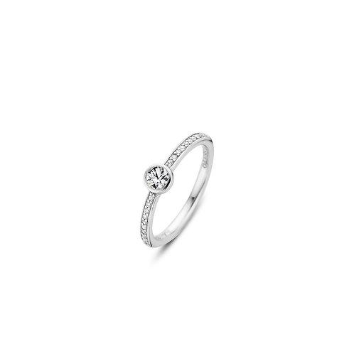12108ZI Ti Sento zilveren ring met zriconia
