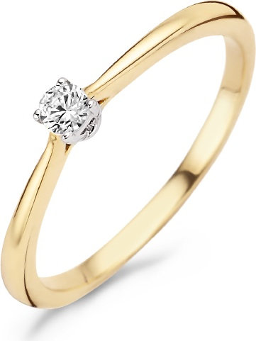 1186BZI Blush ring bicolor solitair