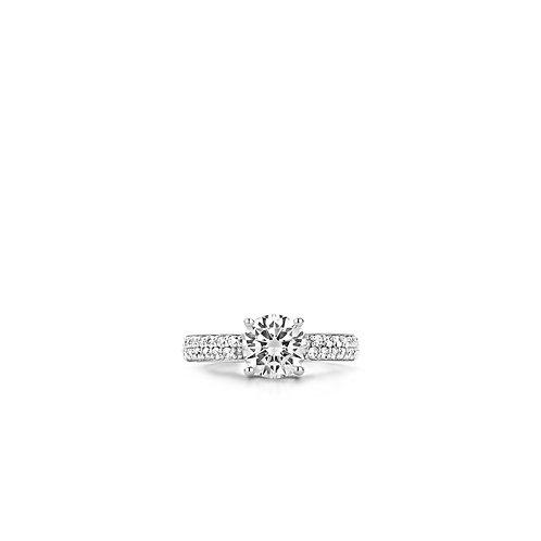 1737ZI Ti Sento zilveren ring met zirconia