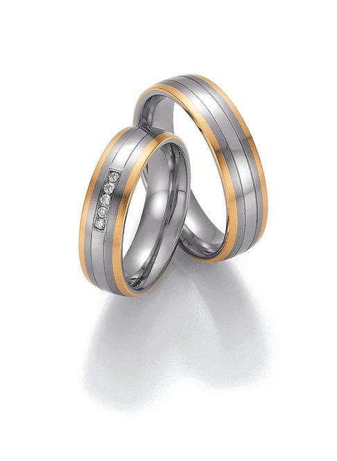 88-60090-60100 Collection Ruesch White Style Steel & Gold Sensation