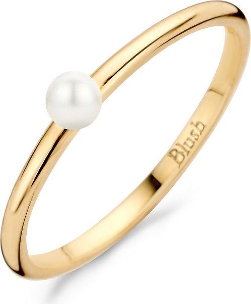 1213YPW Blush ring geelgoud zoetwaterparel