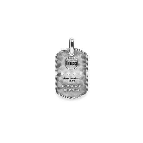 667 Buddha to Buddha Army Tag Pendant Silver