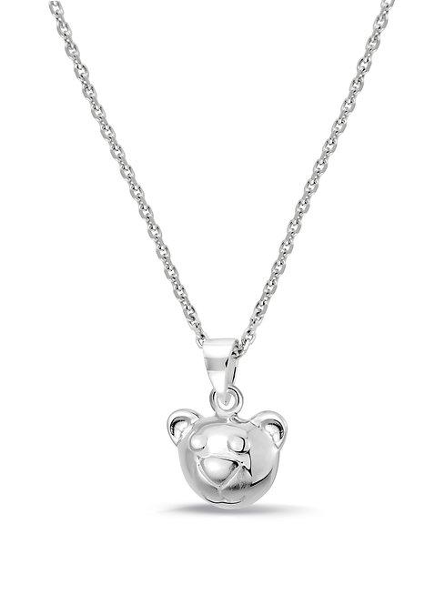 574043 Bellini zilveren collier met hanger beertje