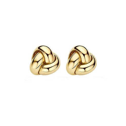 7145YGO Blush oorstekers geelgoud knoop