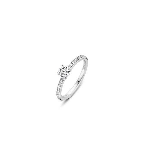 12109ZI Ti Sento zilveren ring met zirconia