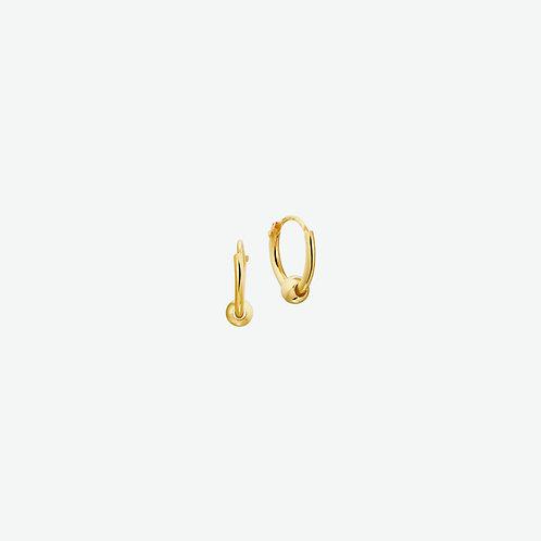 216755 Geelgouden oorringen met bolletje 11x1.3mm