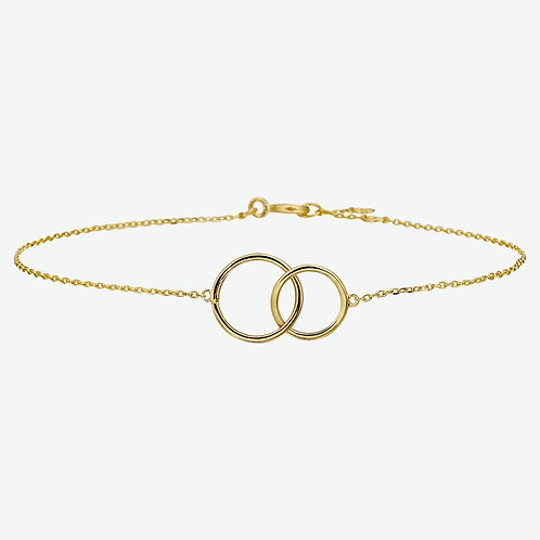 216750 Geelgouden armband open cirkels