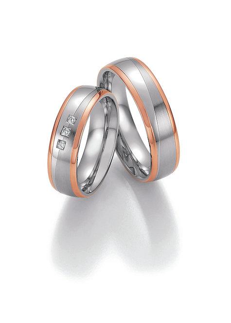 88-60150-60160 Collection Ruesch White Style Steel & Gold Sensation