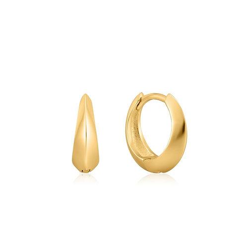 Ania Haie E025-05G Gle Spike  huggie hoops earrings