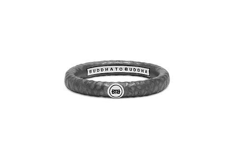 321 Buddha to Buddha Dunia Hammered Black ring
