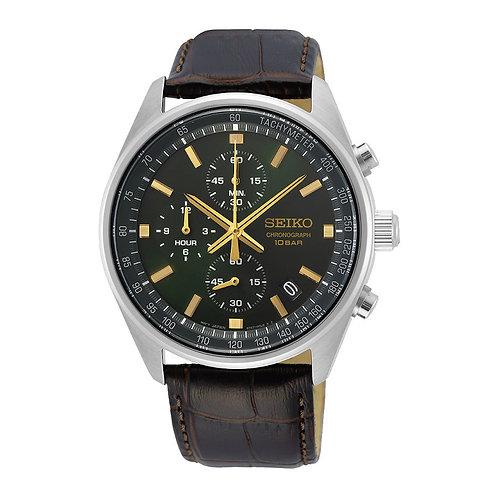SSB385P1 Seiko herenhorloge chronograaf groen