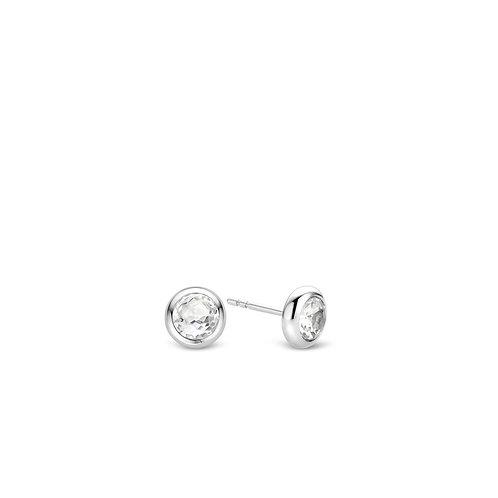 7748ZI Ti Sento zilveren oorstekers met zirconia