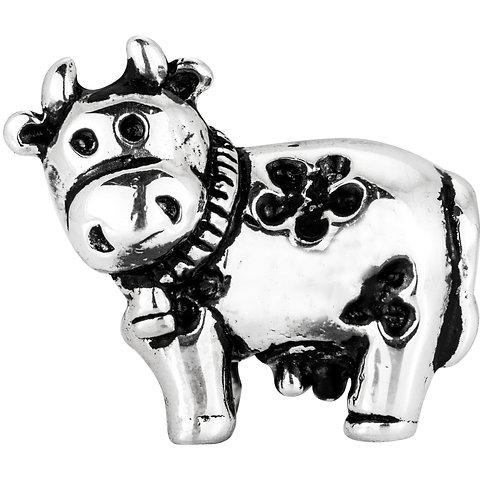 562428 Bellini zilveren bedel koe
