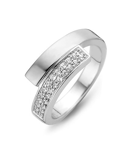 15104AW Moments zilveren ring zirconia