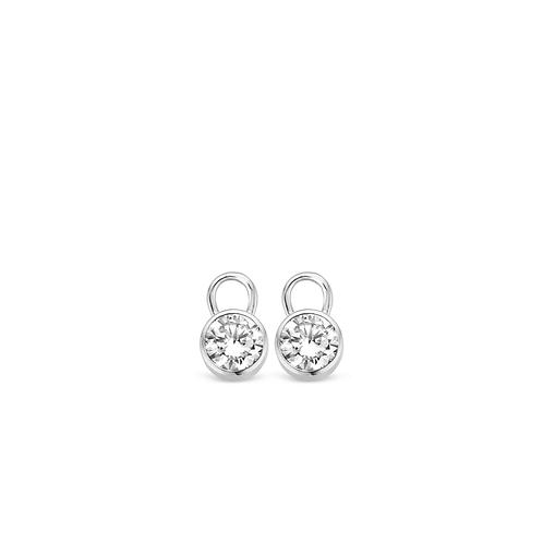 9001ZI Ti Sento zilveren oorbedels met zirconia