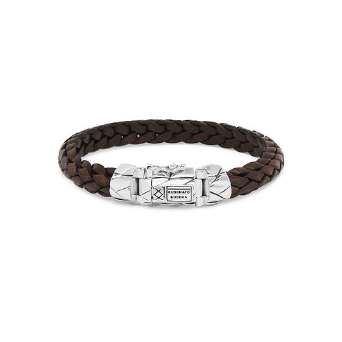 126BR  Buddha to Buddha Mangky Small Leather Bracelet Brown