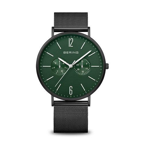 14240-128 Bering Classic heren horloge zwart groen saffierglas
