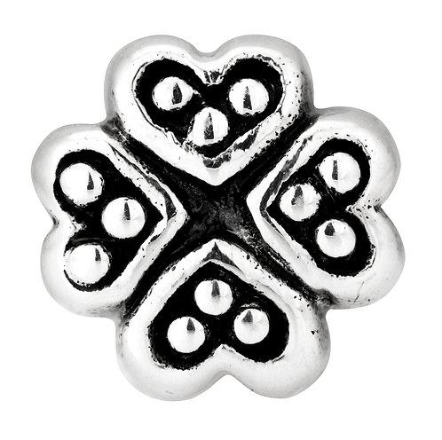562422 Bellini zilveren bedel klaver hart
