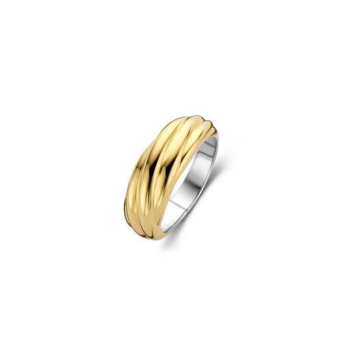 12239SY Ti Sento zilver vergulde ring