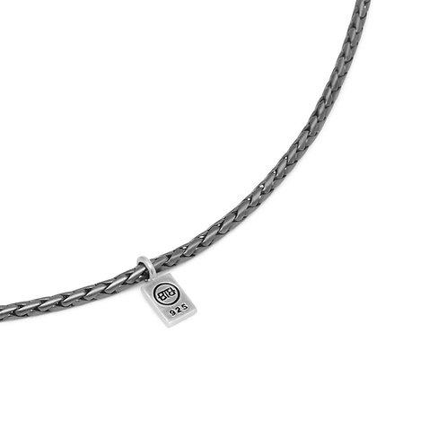 718BRS-60 George XS Necklace Black Rhodium Silver