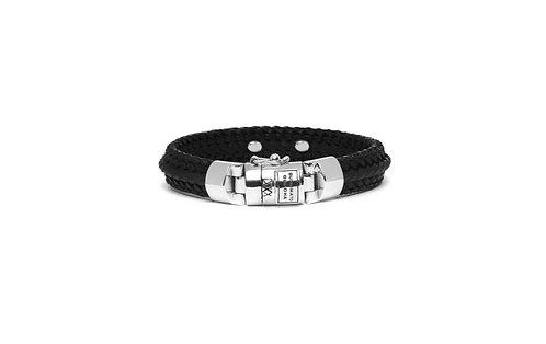 816BL Buddha to Buddha Nurul Small Leather Bracelet Black