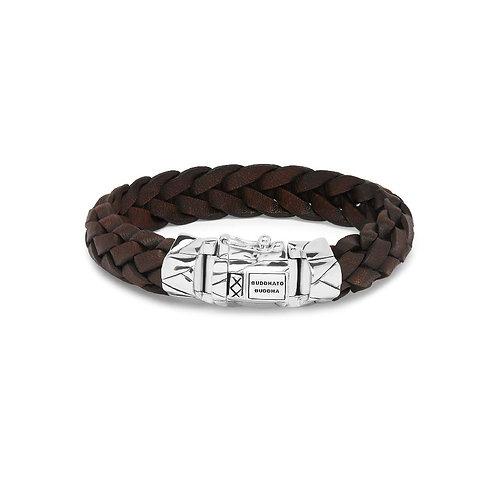 127BR  Buddha to Buddha Mangky Leather Bracelet Brown