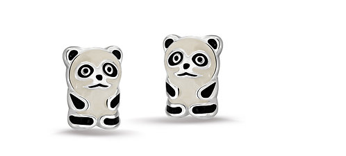 575025 Bellini zilveren oorknoppen panda