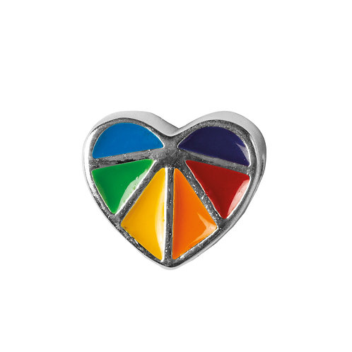 567460 Bellini zilveren bedel emaille hart multikleur
