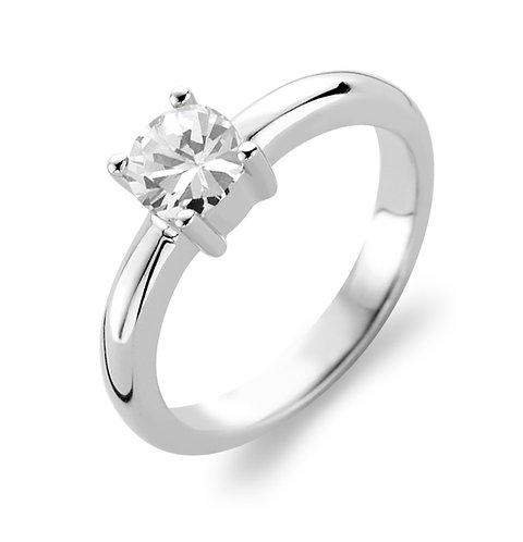 1463ZI Ti Sento zilveren ring  met zirconia